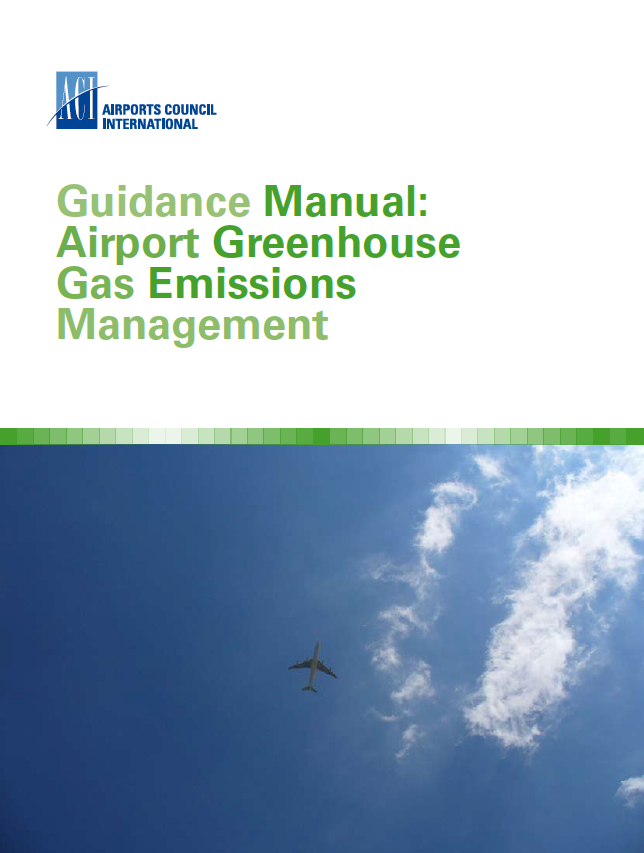 Airport Greenhouse Gas Emissions Management Publication cover